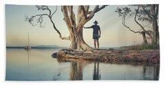 Beach Towel featuring the photograph The Tree And Me by Keiran Lusk