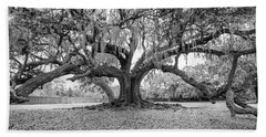 The Tree Of Life Monochrome Beach Sheet