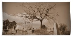 The Tree On Boot Hill  Beach Towel