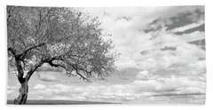 The Tree On The Hill Beach Towel