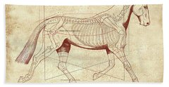 The Trot - The Horse's Trot Revealed Beach Sheet by Catherine Twomey