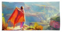 The Truth Will Set You Free Beach Towel