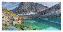 The Turquoise Lake Beach Towel