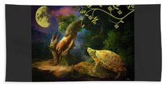 The Turtle Of The Moon Beach Towel