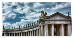 Beach Towel featuring the photograph The Tuscan Colonnades In The City Of Rome by Eduardo Jose Accorinti