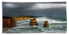 The Twelve Apostles Beach Towel by Marion Cullen