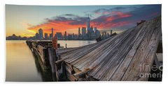 The Twisted Pier Panorama Beach Towel