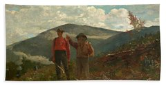 Beach Towel featuring the painting The Two Guides by Winslow Homer