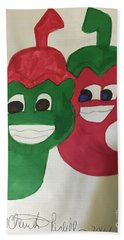The Two Hot Peppers  Beach Towel