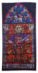 The Unholy Trinity Leatherface Beach Towel
