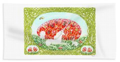 The Unicorn And The Egg Beach Towel