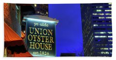 Beach Towel featuring the photograph The Union Oyster House - Boston by Joann Vitali
