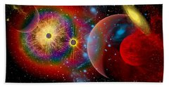 The Universe In A Perpetual State Beach Towel