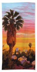 Beach Towel featuring the painting The Urban Jungle by Andrew Danielsen