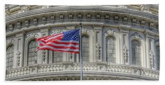 The Us Capitol Building - Washington D.c. Beach Sheet