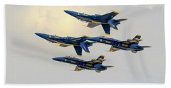 The U.s. Navy Blue Angels Beach Towel