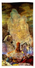 The Valley Of Sphinks Beach Towel