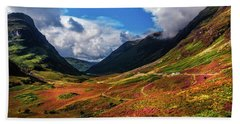 The Valley Of Three Sisters. Glencoe. Scotland Beach Towel