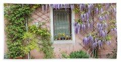 The Venice Italy Window  Beach Towel