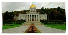 The Vermont State Capital Building Beach Towel