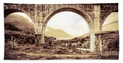 The Viaduct And The Loch Beach Towel