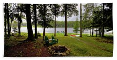 Beach Towel featuring the photograph The View From Northern Comfort by David Patterson