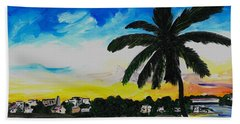 The View From Tamerind Beach Towel