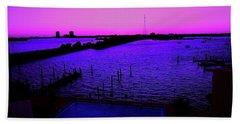 The Purple View  Beach Towel