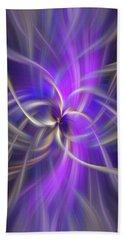 The Violet Flame. Spirituality Beach Towel