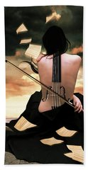 The Violin Song Beach Sheet by Mihaela Pater