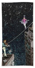 The Violinist And The Dancer Beach Towel