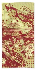 The Violinist Playwright Beach Towel