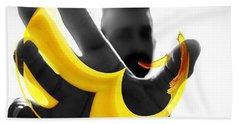 The Virtual Reality Banana Beach Towel