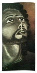 The Vision Of St. Christopher Beach Towel