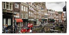 Beach Towel featuring the photograph The Vismarkt In Utrecht by RicardMN Photography