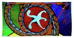 The Vitruvian Serpent Beach Sheet