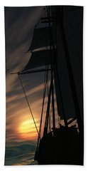 The Voyage Home  Beach Towel