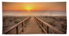 The Walkway To The Sun. Beach Towel