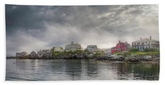 Beach Towel featuring the photograph The Warf by Tom Cameron