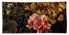 The Warmth Of Summer - Colors In The Garden Beach Towel by Miriam Danar