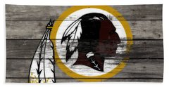 The Washington Redskins 3e Beach Towel by Brian Reaves