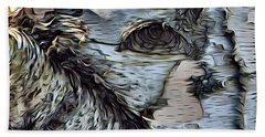 The Watcher In The Wood Beach Towel