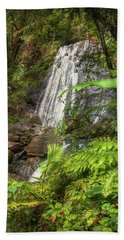 Beach Towel featuring the photograph The Waterfall by Hanny Heim
