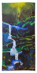 The Waterfall Beach Towel
