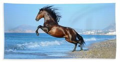The Wave. Andalusian Horse Beach Towel