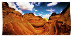 Beach Towel featuring the photograph The Wave Arizona Light by Norman Hall