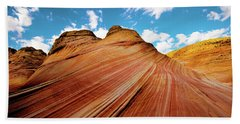 Beach Towel featuring the photograph The Wave Arizona Rocks by Norman Hall