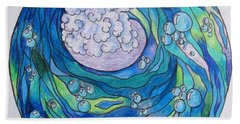 Beach Towel featuring the drawing The Wave by Megan Walsh