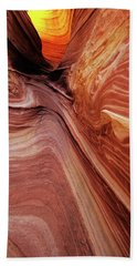 Beach Towel featuring the photograph The Wave Trail by Norman Hall