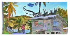 Beach Towel featuring the painting The Way We Were - Flying Kite by Wayne Pascall